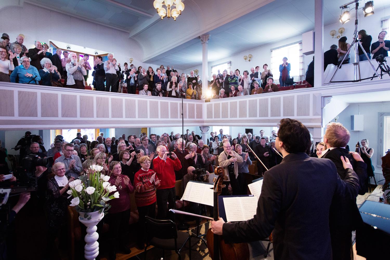 Artister och publik i Orsa under Vinterfest 2015