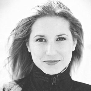 Rosanne Philippens i svartvitt