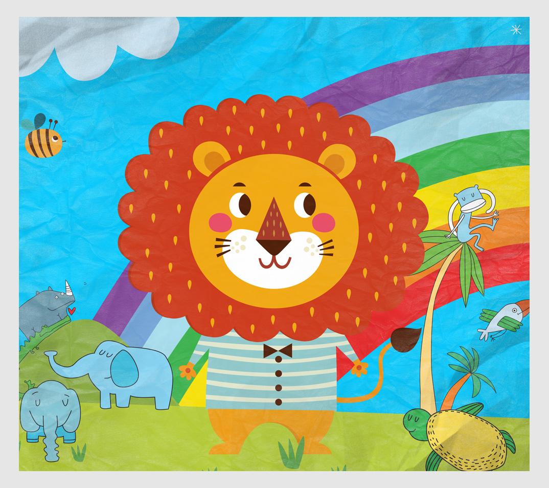 Illustrerat lejon