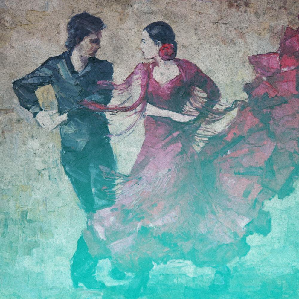 Två tangodansare